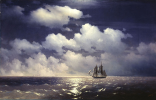 Ivan Aivazovsky. Meeting of the Brig Mercury with the Russian Squadron After the Defeat of Two Turkish Battleships.