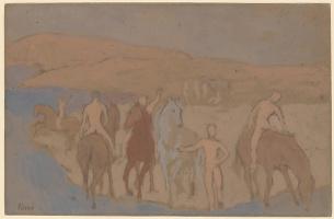 Пабло Пикассо. Купание коней