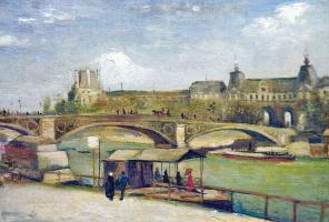 Bridge Du Carrousel and the Louvre