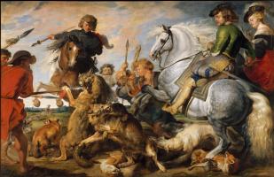 Питер Пауль Рубенс. Охота на волка и лису