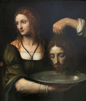 Бернардино Луини. Salome with the Head of John the Baptist