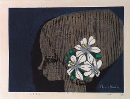 Шузо Икеда. Белые цветы в волосах