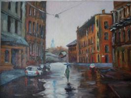 Город в дождь