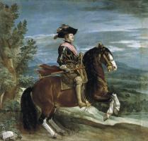 Diego Velazquez. Equestrian portrait of Philip IV