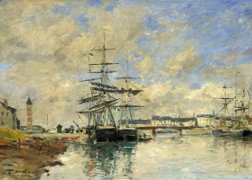 Eugene Boudin. The Harbour, Deauville
