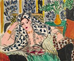 Henri Matisse. Odalisque in a black armchair