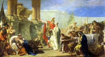 Giovanni Battista Pittoni. Polyxena, sacrifices to the gods of Achilles