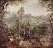 Питер Брейгель Старший. Пейзаж с виселицей