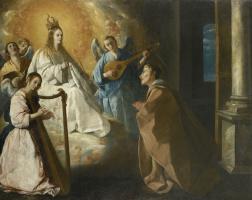 Francisco de Zurbaran. The appearance of the virgin to Saint Peter, Nolasco