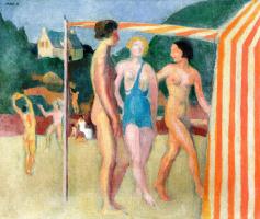 Морис Дени. Три купальщицы на пляже