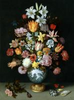 Амброзиус Босхарт Старший. Натюрморт с цветами в вазе