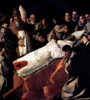 Франсиско де Сурбаран. Погребение св. Бонавентуры в присутствии папы Григория X и короля Арагона Хайме I