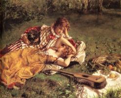 Август  Серюр. Влюбленные на пикнике