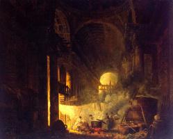 Hubert Robert. Laundresses in the ruins