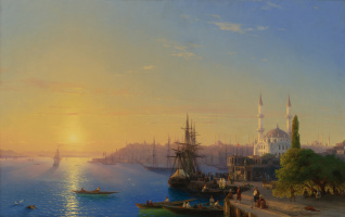 Ivan Aivazovsky. View of Constantinople and the Bosphorus