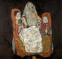 Egon Schiele. Mother with two children