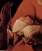 Жорж де Латур. Рождество, деталь: Голова младенца