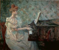 Madam Misia Natanson at the piano