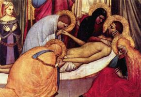 Giotto di Bondone. Pieta, detail