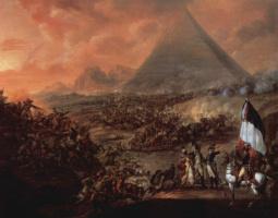 Франсуа-Луи-Жозеф Ватто. Битва близ пирамид