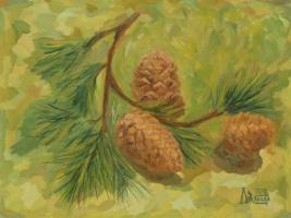 Larissa Lukaneva. Pine branch