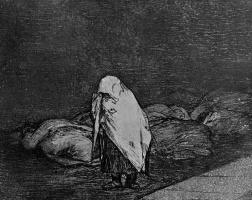 """Франсиско Гойя. Серия """"Бедствия войны"""", лист 62: Ложе смерти"""