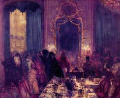 Адольф фон Менцель. Ужин в масках