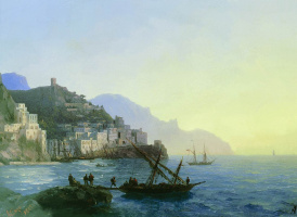 Ivan Aivazovsky. View Of Amalfi