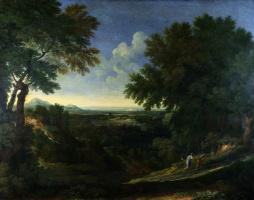 Дугхет Гаспар. Пейзаж с Авраамом, Исааком