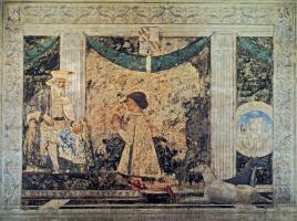 Пьеро делла Франческа. Сиджизмондо Малатеста перед Святым Сигизмундом