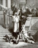 Поль Гюстав Доре. Иллюстрация к Библии: Лазарь и богач