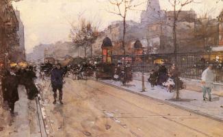 Луиджи Луар. Парижская уличная сцена