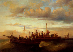 Адольф Монтичелли. Итальянские рыболовные суда в сумерках