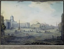 Ф. К. Неелов. Вид собора Казанской Богоматери