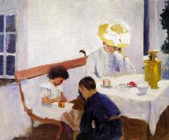 За столом. На террасе. 1903