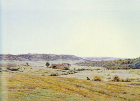 Жан Фердинанд Моншаблон. Молодой пастух в обширном пейзаже