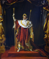 Jacques-Louis David. Portrait of Napoleon in the garb of the Emperor