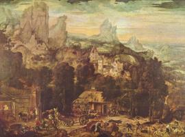 Хендрик мет де Блес. Медный рудник в горах