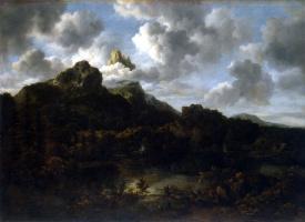 Якоб Исаакс ван Рейсдал. Горный пейзаж