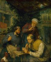 Адриан Янс ван Остаде. Два курящих крестьянина