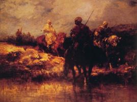 Адольф Шрейер. Арабы на лошадях