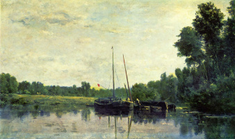 Шарль-Франсуа Добиньи. Лодки на Уазе