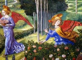 Беноццо Гоццоли. Ангел собирает цветы