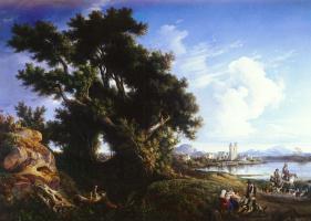 Консалво Карелли. Пейзаж возле Неаполя