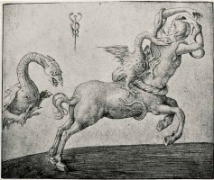Якопо де Барбари. Кентавр, преследуемый драконом