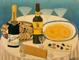 Хигинио Маллебрера. Натюрморт с бутылками
