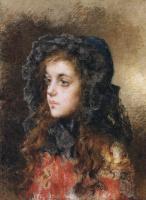 Алексей Алексеевич Харламов. Портрет девочки. 1904
