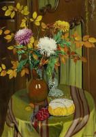 Феликс Валлоттон. Хризантемы и осенние листья