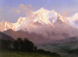 Альберт Бирштадт. Заснеженные горы, Гранд-Титон