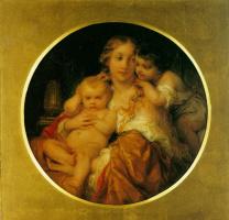 Поль Деларош. Мать и дети